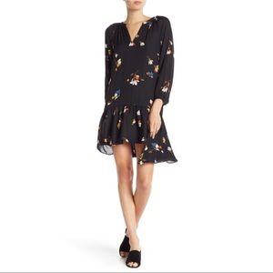 Joie 100%Silk Argafena Floral Dress Asymmetric Hem